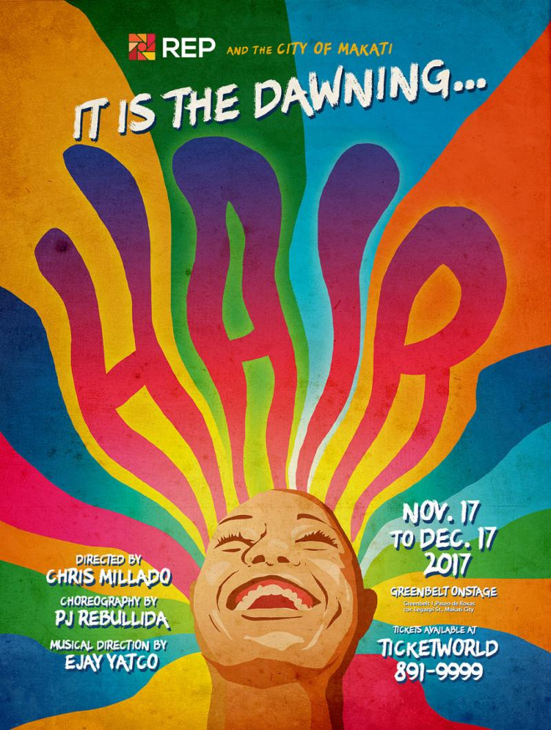 Repertory Philippines Caps Season with HAIR, 11/17-12/17