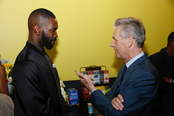 Playwright Tarell Alvin McCraney and Center Theatre Group Artistic Director Michael Ritchie
