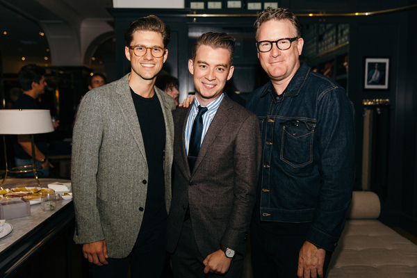 Aaron Tveit, Tony Marion and Todd Snyder