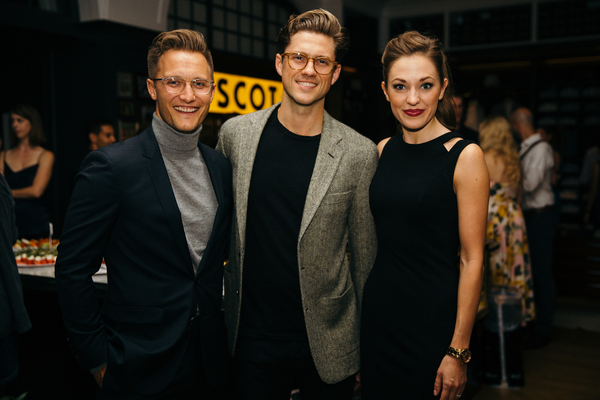 Nathan Johnson, Aaron Tveit and Laura Osnes