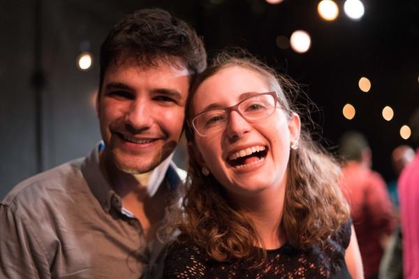 Evan Bernardin and Michelle Tewksbury