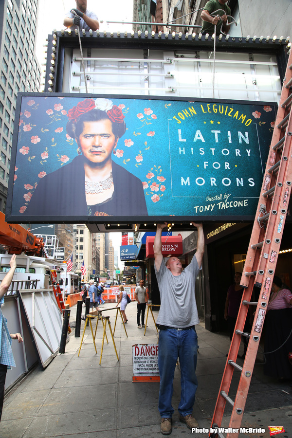 Photo Coverage: John Leguizamo Unveils LATIN HISTORY FOR MORONS Marquee