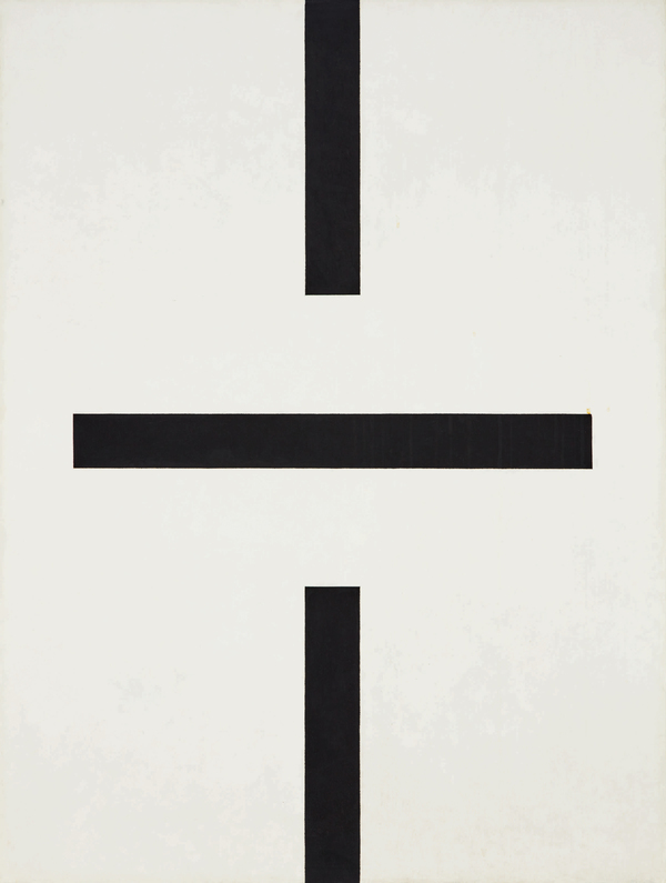 Lot 15 John McLaughlin #11-1960 signed, titled and dated1960on the reverseoil on canvas47 7/8 by 35 7/8 in. 121.6 by 91.1 cm. Estimate $70/90,000 Sold for $262,500