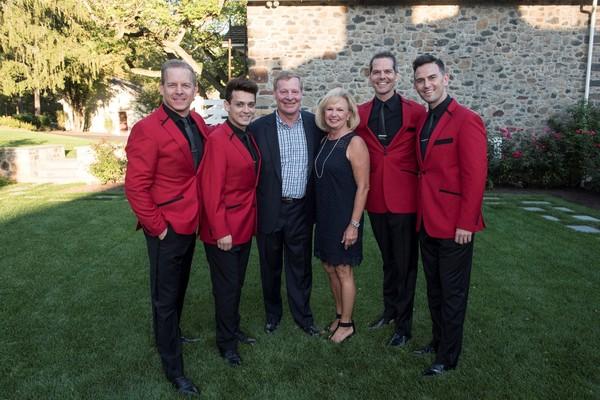 Christian Hoff, Michael Longoria, Ed Breen & Lynn Breen, J. Robert Spencer and Daniel Reichard