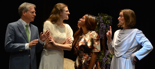 David Cantor as Chrysale, Lizzie Englemerth as Henriette, Nadia Denise Brown as Arman Photo