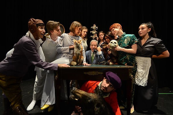 Lea Antolini as Arista, Christopher John Young as Lycandre, Sandy York as Philamente, Lizzie Engleberth as Henriette, David Cantor as Chrysale, Isabel Cade as Martine, Nadia Denise Brown as Armande, Amy Griffin as Belise, Brianna Morris as the servant, a