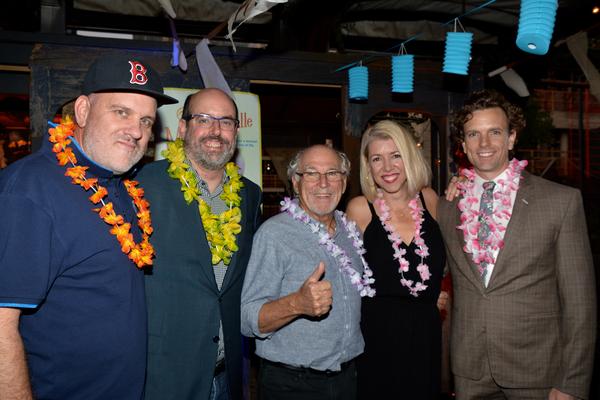 Mike O'Malley, Christopher Ashley, Jimmy Buffett, Kelly Devine (Choreographer) and Paul Alexander Nolan