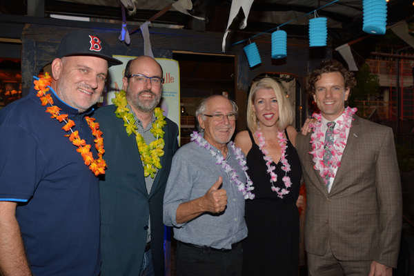 Mike O'Malley, Christopher Ashley, Jimmy Buffett, Kelly Devine and Paul Alexander Nolan