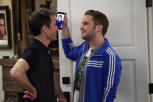 """WILL & GRACE -- """"Who's Your Daddy?"""" Episode 102 --  Pictured: (l-r) Eric McCormack as Will Truman, Ben Platt as Blake -- (Photo by: Chris Haston/NBC)"""