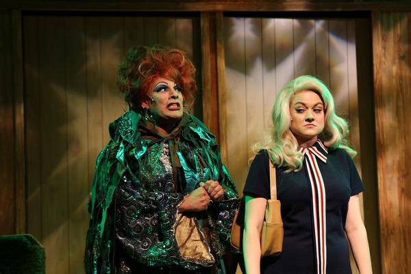 (left to right) David Cerda as Endora and Elizabeth Morgan as Samantha in  Hell 6e7767335e28a