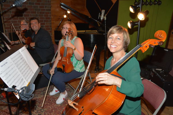 The String Section-Marshall Coid (Violin 1), Brad Busenbeck (Violin 2), Elizabeth Nielsen (Violin and Viola) and Laura Bontgager (Cello)