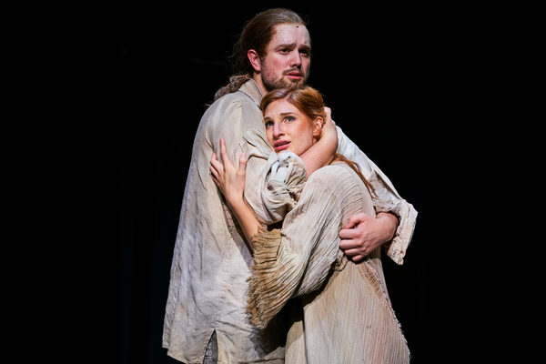 Esmeralda (Keri Rene Fuller*) and Phoebus (Jon Loya*) dream about 'Someday'. Photo