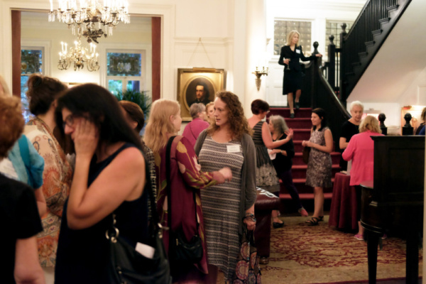 The League of Professional Theatre launched its 35th season, championing women and leading the conversation about gender parity in the American theatre on Tuesday, September 26th at the Players Club on Gramercy Park.  The event began with mingling.
