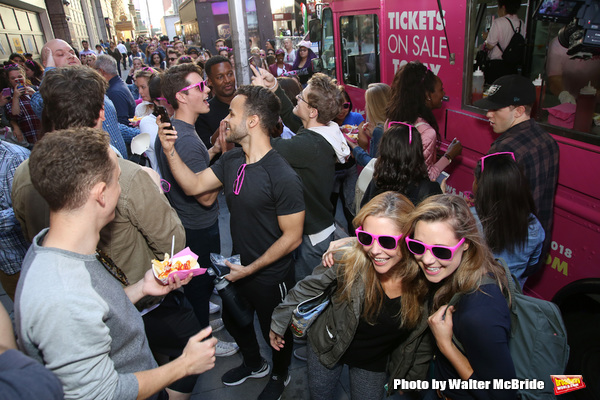 Photo Coverage: MEAN GIRLS Cast Gets In Line for Tina Fey's Cheese Fries!