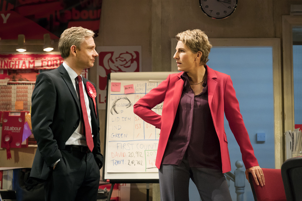 Martin Freeman and Tamsin Greig