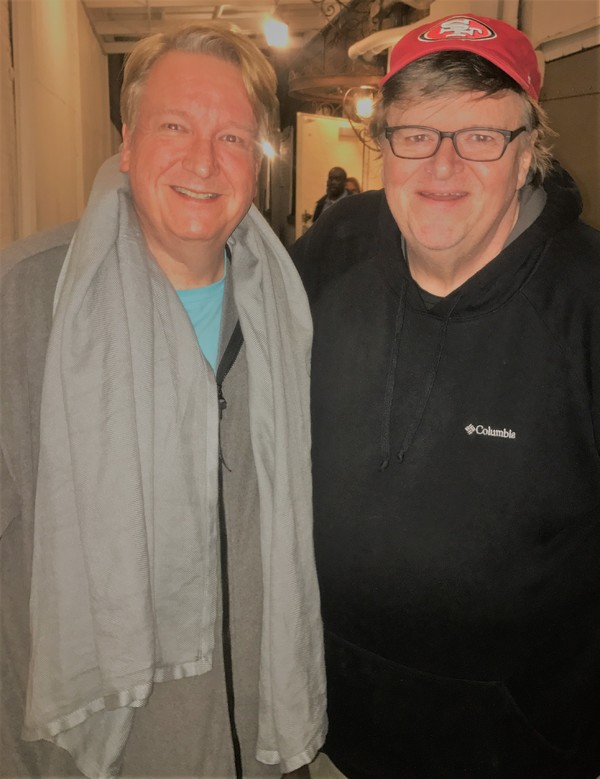 Dr. Anton Anderssen and Michael Moore Photo