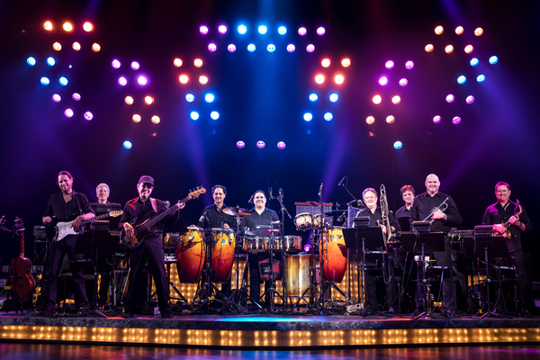 ON YOUR FEET! Band featuring members of the Miami Sound Machine: Clay Ostwald (Music Director/Keyboard), Jorge Casas (bass), Edward Bonilla (percussion) and Theodore Mulet (trombone)
