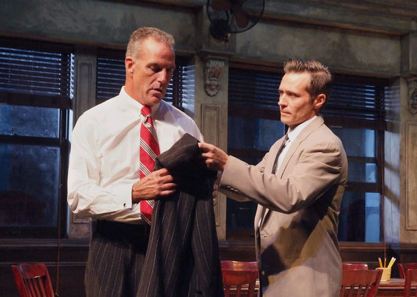 The cast of TWELVE ANGRY MEN at Laguna Playhouse