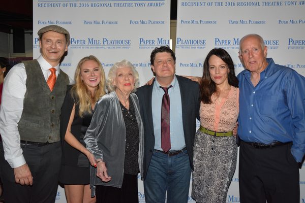 Michael Mastro, Laura Bell Bundy, Joyce Randolph, Michael McGrath, Leslie Kritzer and Brian Carney