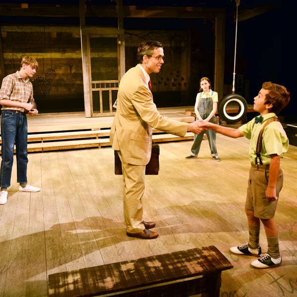 Jem: Nathaniel Oaks, Atticus Finch: Lewis D. Wheeler, Scout: Carly Williams & Dill: G Photo