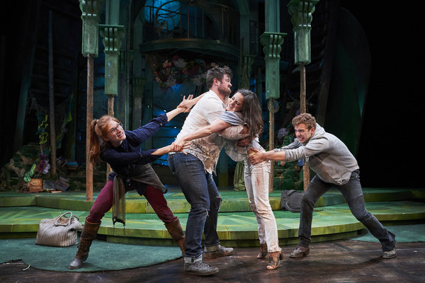 The lovers (actor, Keri Rene Fuller*, Jon Loya*, Michelle Pauker and Corey Mach*) fight with one another as the spells they are under run their course
