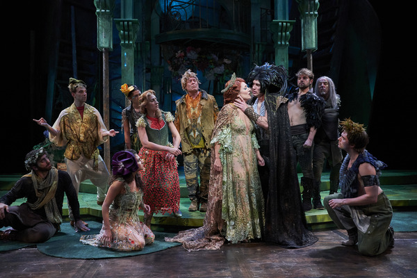 Things get heated between Oberon (actor, Nick Steen*) and Titania (actor, Jillian Kat Photo