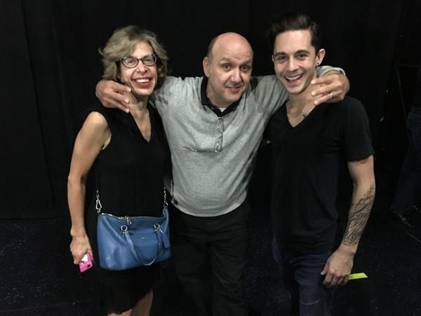 Jackie Hoffman, Paris Themman, and Michael Wartella
