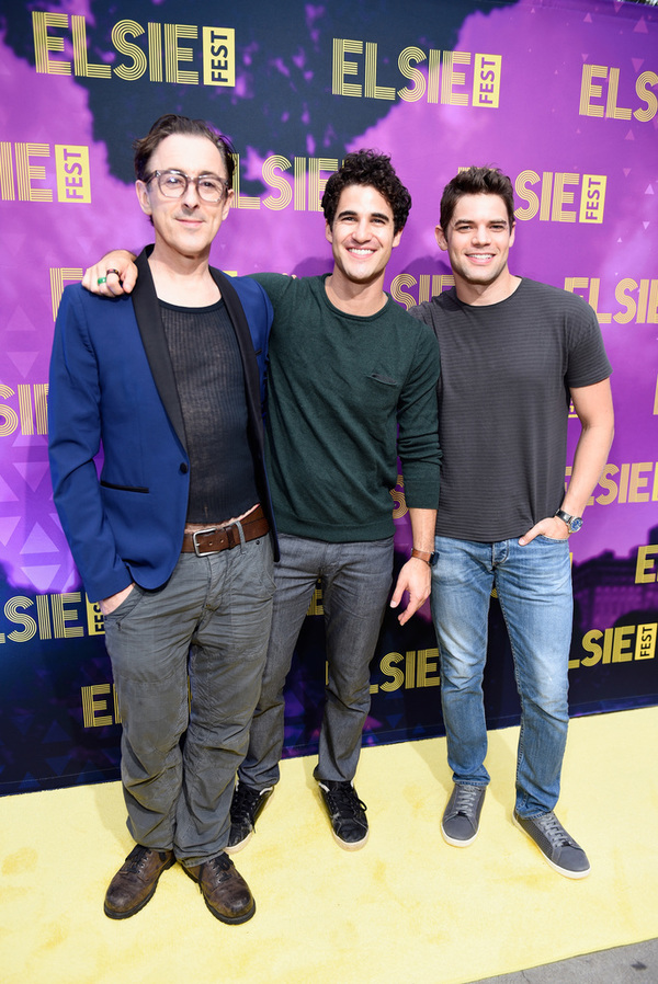 Alan Cumming, Darren Criss and Jeremy Jordan