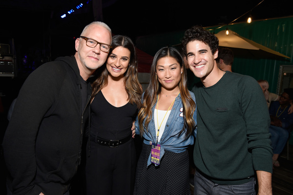 Ryan Murphy, Lea Michele, Jenna Ushkowitz and Darren Criss