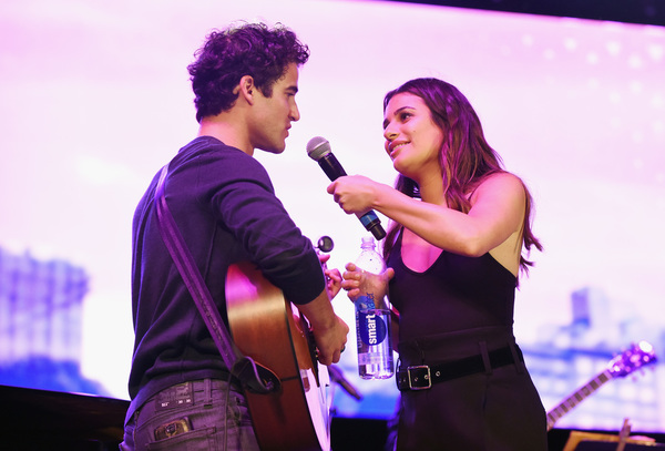 Darren Criss  and Lea Michele