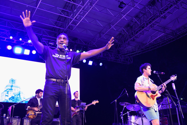 Norm Lewis and Darren Criss