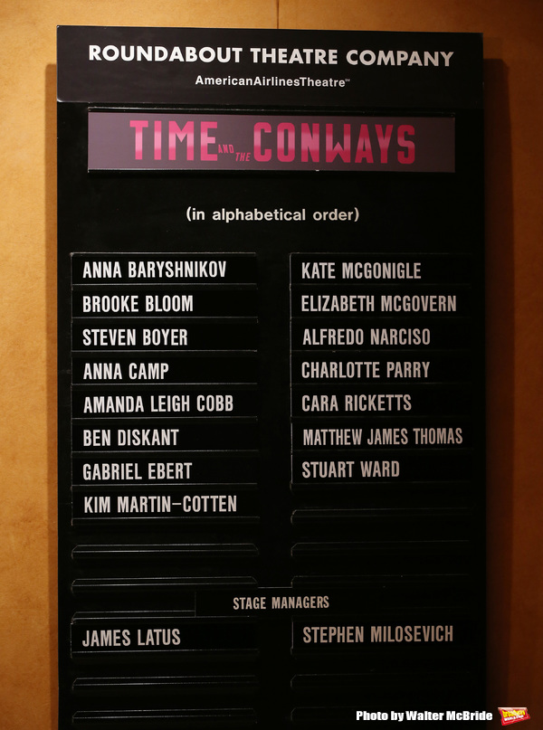 Photo Coverage: TIME AND THE CONWAYS Company Take Opening Night Bows on Broadway