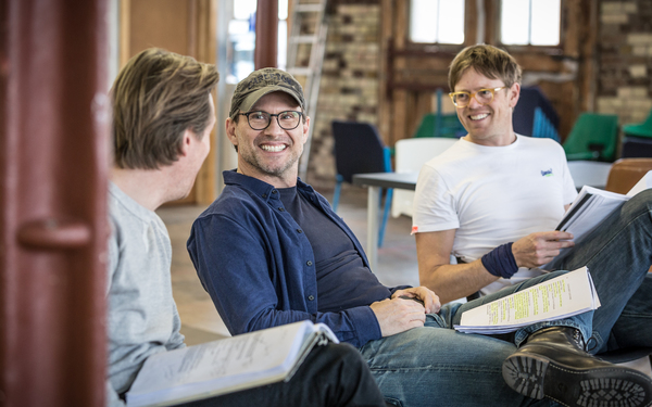 Christian Slater and Kris Marshall