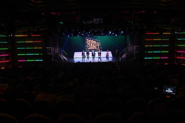 Q&A Session onstage in the Princess Theatre with Bryan Perri, Al Blackstone, Daniel C. Levine, Stephen Schwartz, Denise Saviss and Gordon Ho