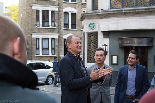 Hugh Bonneville, Paul Roseby and Brian Zeiling