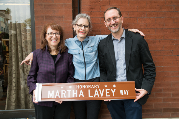 Alderman Michele Smith, Michele Dragisity and  David Schmitz Photo