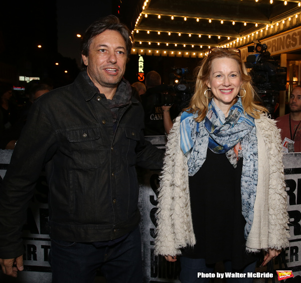 Marc Schauer and Laura Linney