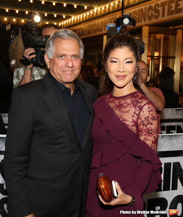 Leslie Moonves and wife Julie Chen