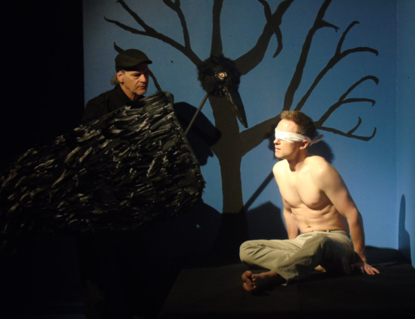 Edgar Allan Poe IV (Blackbird) and Joshua James Knightley (Connor) in afterlife: a ghost story by Steve Yockey