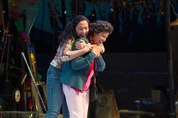 Josefina (Nancy Rodriguez, left) shares a happy moment with Tita (VIVIS)
