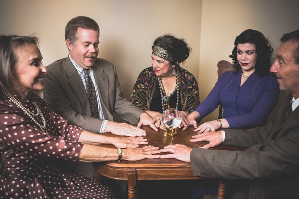 Violet Bradman (Darla Smedley), Charles Condomine (Jed Slaughter), Madame Arcati (Dana Messina Galagan), Ruth Condomine (Deya Ozburn) & George Bradman (John Saunders)