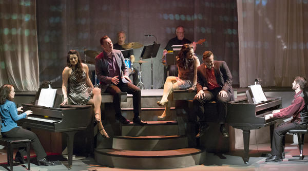 The cast of TICKLING THE IVORIES at Stage Door Theatre