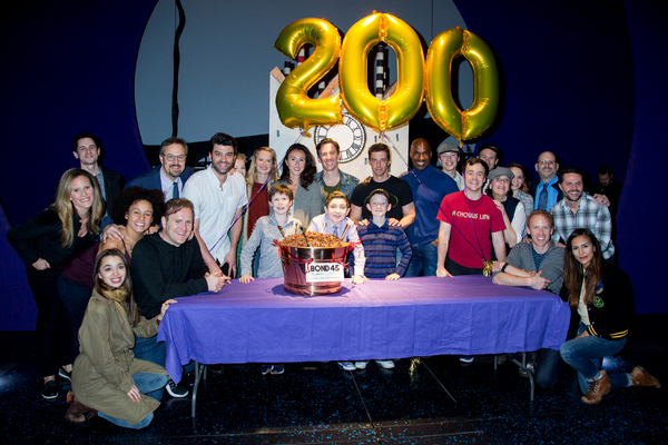 The cast of CHARLIE AND THE CHOCOLATE FACTORY with Tad Wilson