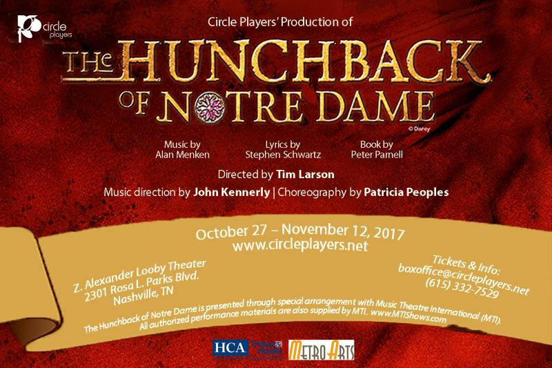 Circle Players' Stages Nashville Premiere of THE HUNCHBACK OF NOTRE DAME