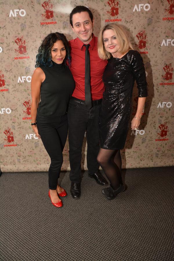 Daphne Rubin-Vega, Aaron Mark and Alison Fraser