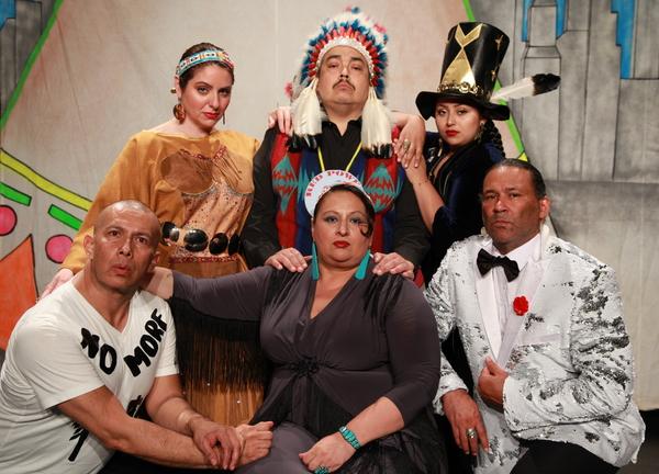 (standing) Danielle Soames (Mohawk/Kahnawake Nations), Kevin Tarrant (Hopi/Ho-Chunk N Photo