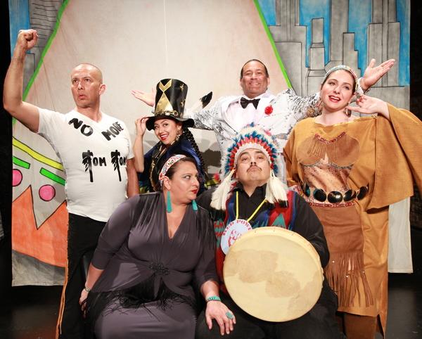 (standing) Nicholson Billey (Delaware/Choctaw Nations), Henu Josephine Tarrant (Hopi/ Photo
