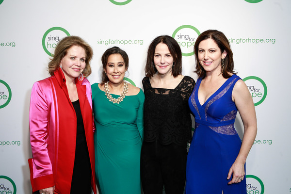 Renee Fleming, Monica Yunus, Mary-Louise Parker and Camille Zamora