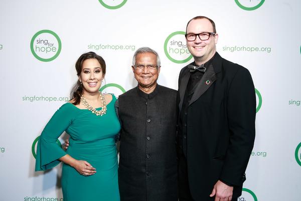Monica Yunus, Muhammad Yunus, Dominique Dauster