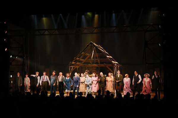 """The cast takes their bow for the opening night performance of """"Bright Star"""" at Center Photo"""